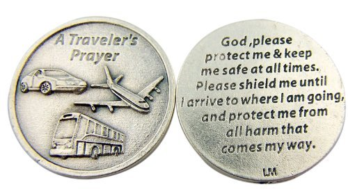 Religious Catholic Gift A Travelers Prayer God Protect and Shield Me Pocket Token - 1