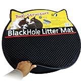 ブラックホール 二重構造 猫の砂取りマット 57cm x 53cm - 猫のトイレマット