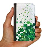 St. Patrick's Day Irish Designed Clover Swirls White Protective iPhone 4/iPhone 4S Case