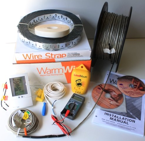 Warmwire Kit Heats 150 Sf When Spaced At 2.5 Inches, Incl Strap, 500775 Tstat, Dvd Plus Accessories