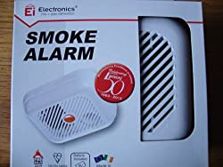 Ei Electronics Battery Smoke Alarm with Test Button by Ei Electronics