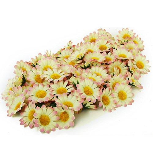 100 x Marguerite Gerbera Artificielle Têtes de Fleurs pour DIY Mariage Partie - Rose Clair Dégradé