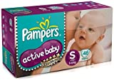Pampers Active Baby Small Size Diapers (46 Count) - Rs.550.00 @ AMAZON