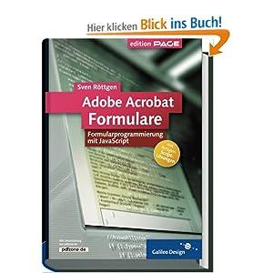 eBook Cover für  Adobe Acrobat Formulare Formularprogrammierung mit JavaScript Galileo Design