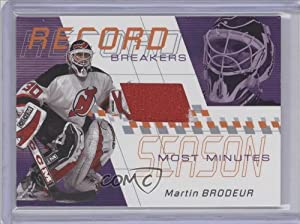 Martin Brodeur New Jersey Devils (Hockey Card) 2001-02 In the Game Between the Pipes [???] #RB-04