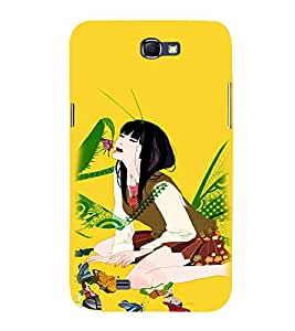 EPICCASE crazy chinese girl Mobile Back Case Cover For Samsung Galaxy Note 2 (Designer Case)