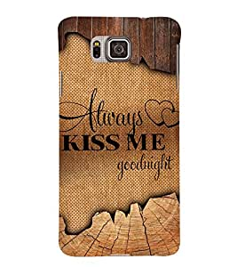 Always Kiss me Good Night 3D Hard Polycarbonate Designer Back Case Cover for Samsung Galaxy Alpha G850