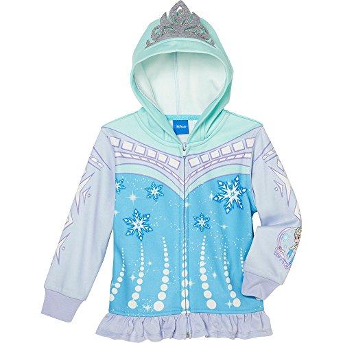 Princess Little Girls' Zip-Up Fleece Hoodie With Mesh Mask