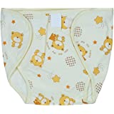 Square Brand Premium Quality Baby Joy Pack Of 3 , Outside Printed Cotton Inside Plastic ,yellow, Multisize, Washable Reusable Padded Cushioned Diaper/Langot Nappies For Baby Very Comfortable.