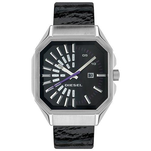 Diesel DZ515 Ladies Black Patent Leather Strap Watch