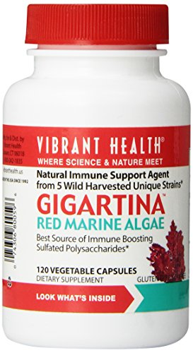 Vibrant Health Gigartina Red Marine Algae, 5 Strains, 120 Vegi-Caps