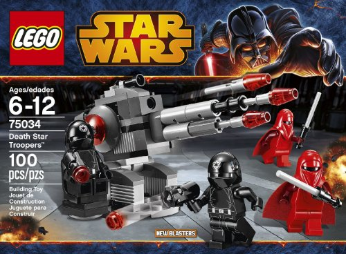 LEGO Star Wars 75034 Death Star Troopers 100 pieces Includes 4 Minifigures With Weapons: 2 Imperial Royal Guards And 2 Death Star Gunners Order Now! With E-book Gift@ (Imperial Gunner Helmet compare prices)