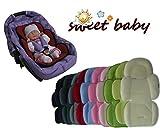 Sweet Baby ** SOFTY MAXI AZUL CLARO ** Cojín reductor para silla de bebé / Protector de cuerpo para coche (0-12 meses)