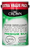 Crown Silk Emulsion Pure Brilliant White Bretheasy 6 Ltr
