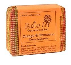 Rustic Art Organic Orange & Cinnamon Soap 100 grams