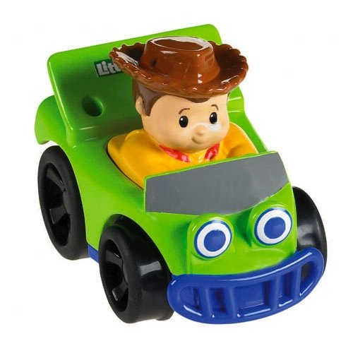 Fisher Price Little People Wheelies, X3892 Fahrzeug mit Woody aus Toy Story