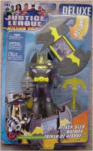 Buy Low Price Mattel Batman (Attack Sled) from Justice League Mission Vision – Deluxe Figures (B0036LWHTW)
