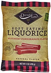 Darrell Lea Soft Eating Liquorice, Blueberry Pomegranate Candy, 7 Ounce (Pack of 8)