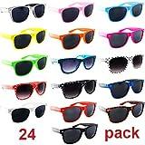 Lot of 24 Nerd Glasses Buddy Holly Wayfarer Dark Lenses