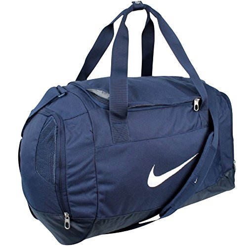 Nike, Borsa sportiva Drum Club Team Swoosh, Blu (Midnight Navy/Black/White), 40 x 27 x 23 cm, 43 litri