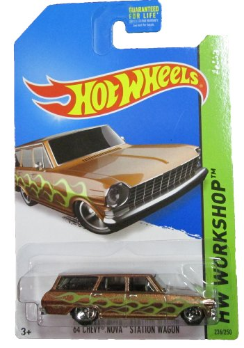 Hot Wheels - 2014 HW Workshop - 236/250 Muscle Mania - '64 Chevy Nova Station Wagon (metallic brown) - 1