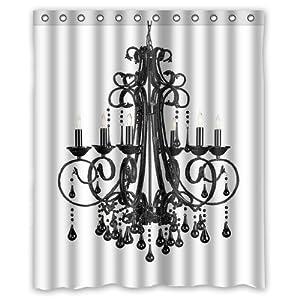 Custom Chandelier Shower Curtain 60 X 72 Bathroom