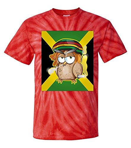 Tie-Dye: Jamaican Owl Smoking Weed T-Shirt