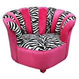 Newco Kids Sweetheart Chair Tween Zebra, Hot Pink