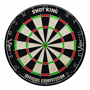 Viper Shot King Sisal Fiber Bristle Dartboard