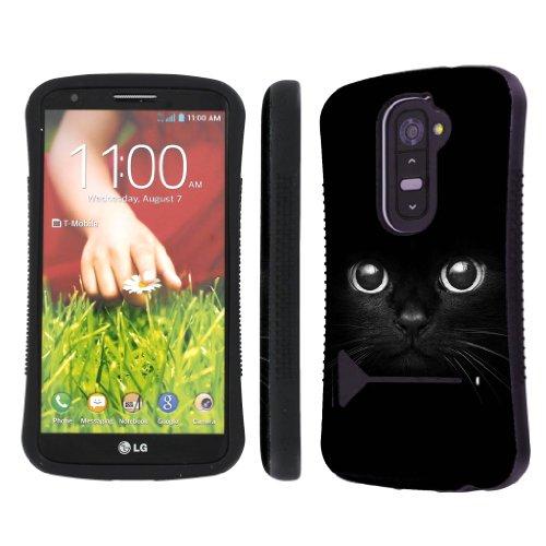 Nakedshield Verizon / At&T Lg G2 D801 Vs980 Cute Cat Eye Heavy Duty Shock Proof Armor Art Kickstand Phone Case