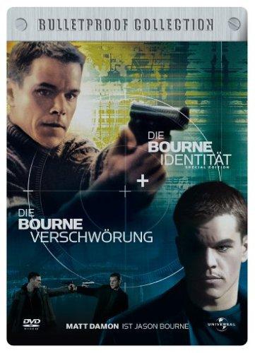 Die Bourne Identität + Die Bourne Verschwörung (Bulletproof Collection, 2 DVDs im Steelbook)