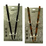 Brown and Black Hair Sticks with Diamonds (4 Sticks)