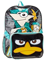 Disney Boys Backpack Lunch Black