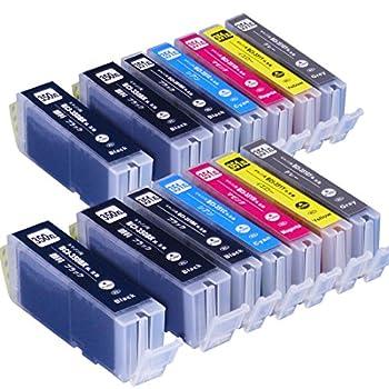 キヤノン(CANON) BCI-351XL+350XL/6MPx2+BCI-350XLPGBKx2 6色が2セットと黒が2本の14本セット 互換インクカートリッジ インクのチップスオリジナル製品 Amazon認定 FFPパッケージ