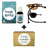 Aromafume Fresh Spring diffuser oil (15ml) + 12 T-Lite candles & Ultima burner