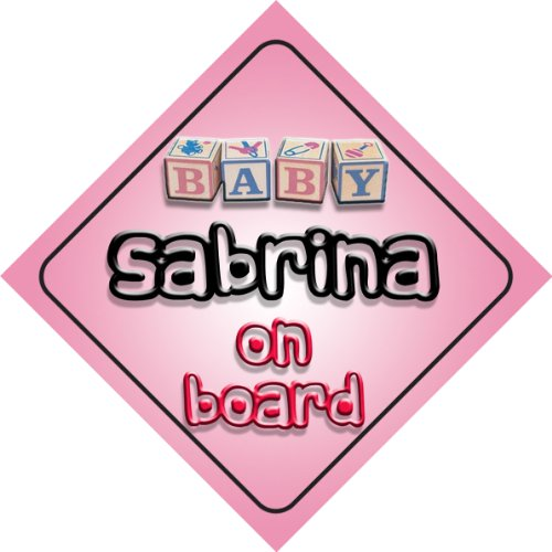 Sabrina on board baby Girl auto a forma di cartello regalo per bambini e neonati