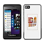 TopCaseStore Rubber Case Hard Cover Protection Skin for BLACKBERRY Z10 - quilt grey pattern sewing