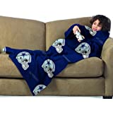 NFL Dallas Cowboys Youth Size Comfy Throw Blanket with Sleeves