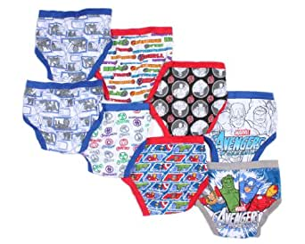 Marvel Avengers Assemble Boys 8 Pack of Briefs Underwear