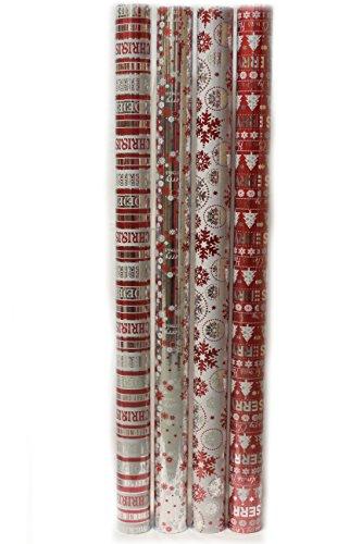 2 m weihnachten geschenkpapier folie geschenkpapier folie silber ...