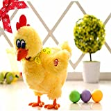 Hen Musical Dancing Laying Egg Funny Educational Baby Kid Toy Chickens Crazy Singing Dancing Pet Plush Toy