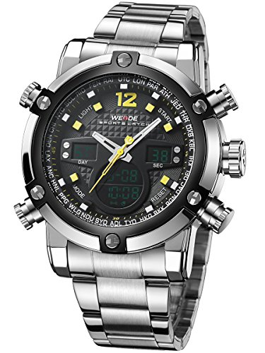 alienwork-dualtime-analogue-digital-watch-chronograph-lcd-wristwatch-multi-function-metal-black-silv