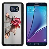MSD Premium Samsung Galaxy Note 5 Aluminum Backplate Bumper Snap Case Argentine tango shoes with a rose on neutral background Image ID 27122047