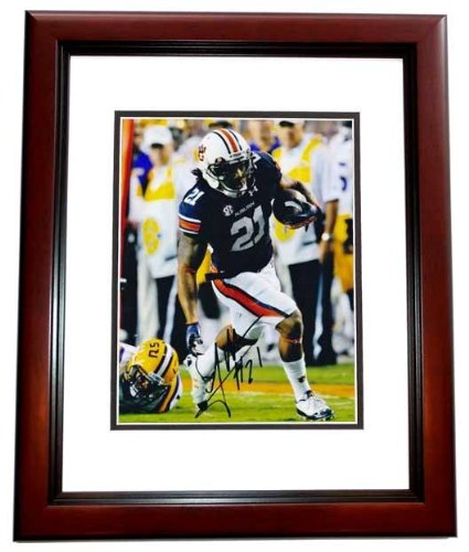Tre Mason Autographed Auburn Tigers 8x10 Photo MAHOGANY CUSTOM FRAME - Autographed College Photos at Amazon.com