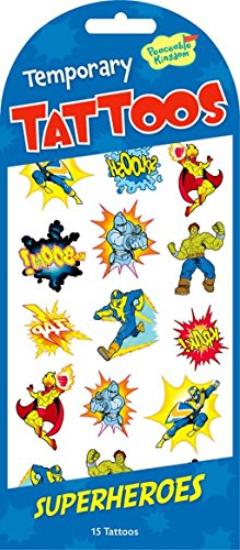 Peaceable Kingdom Superheroes Temporary Tattoos