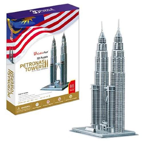 petronas-towers-world-great-architecture-86-pieces-3d-puzzle-cubic-fun-series-japan-import