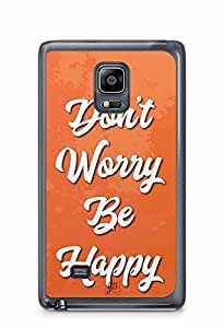 YuBingo Don't Worry. Be Happy Designer Mobile Case Back Cover for Samsung Galaxy Note 4 Edge