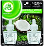 Air Wick Scented Oil Air Freshener, National Park Collection, American Samoa, 2 Refills, 0.67 Ounce