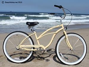 Women's Urban Lady 3 Speed Beach Cruiser Bike Color: Vanilla