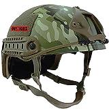 OneTigris サバゲーヘルメット ファストヘルメット MHタイプ 米軍レプリカ装備 多目的 パラシュート・作業・防災など 軽量 (マルチカム迷彩)